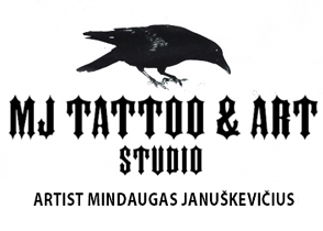 MJ Tattoo and Arts studio Logo